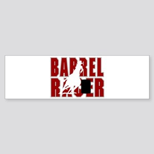 BARREL RACER [maroon] Sticker (Bumper)